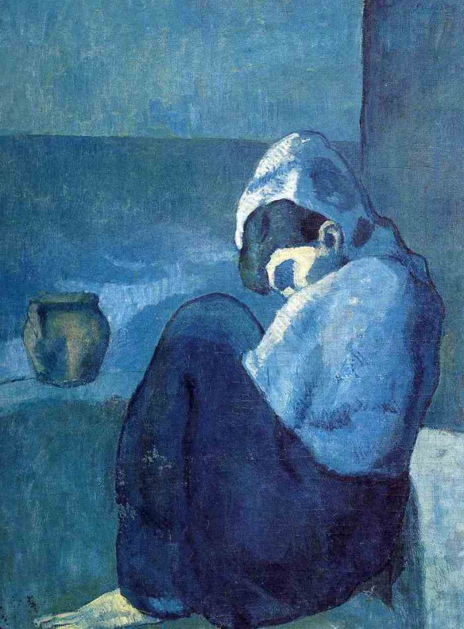 Pablo Picasso. Femme accroupie 1902