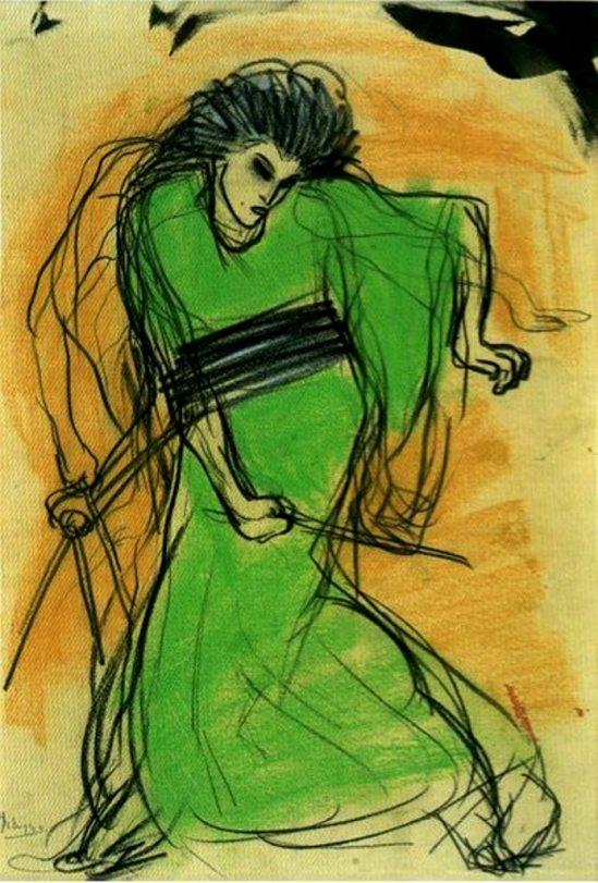 Pablo Picasso. La danseuse Sada Yacco 1901