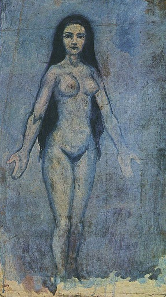 Pablo Picasso. Naked woman dripping hair 1902