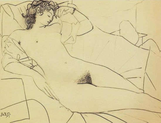 Pablo Picasso. Odalisque
