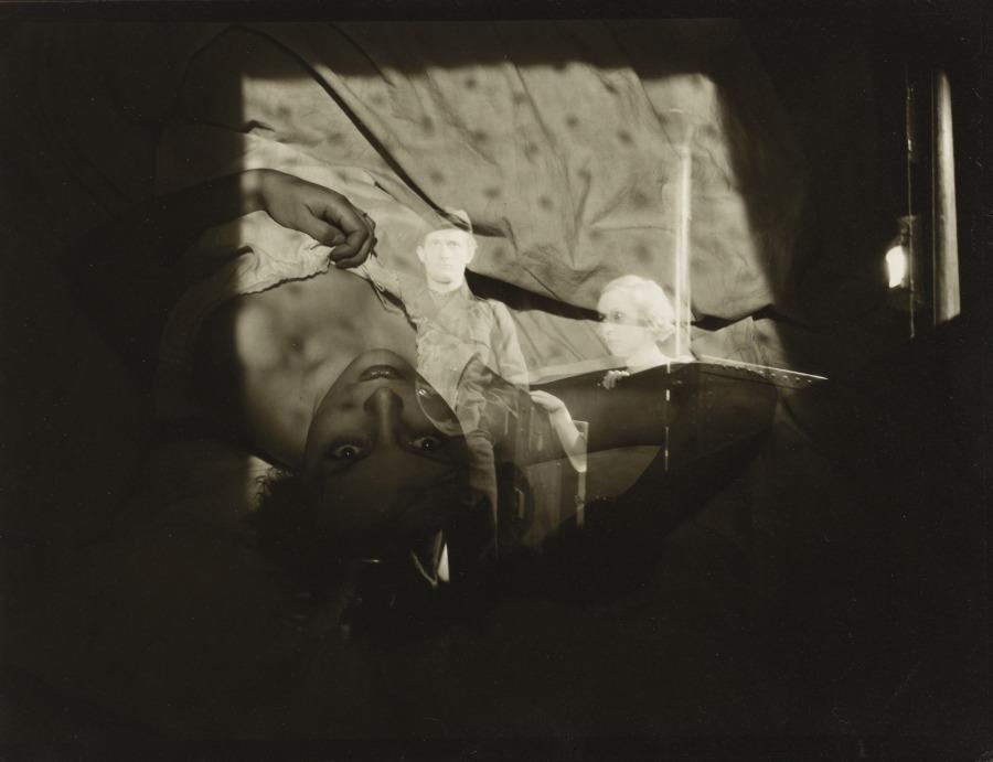 Roger Parry. Double Exposure, Woman on Bed 1933. Via clevelandart