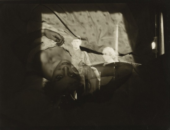 Roger Parry. Double Exposure, Woman on Bed 1933. Via clevelandart