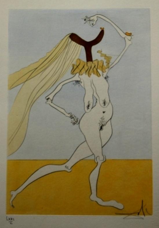 Salvador Dali. Nu aux voilettes