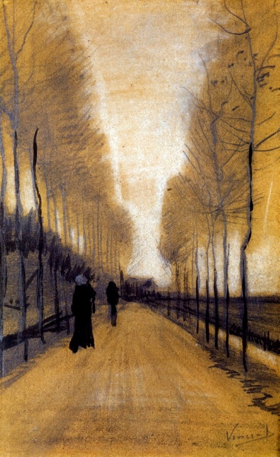 Vincent van Gogh. Alley bordered by trees  1884