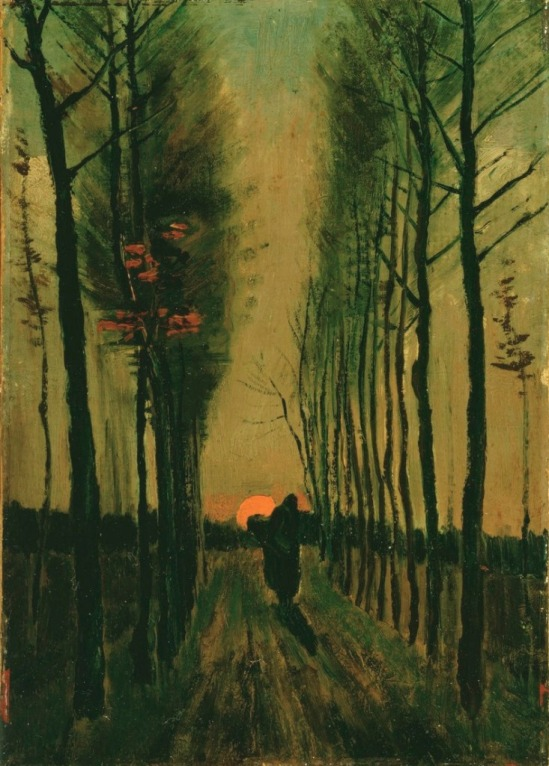 Vincent van Gogh. Avenue of Poplars at Sunset , 1884jpeg