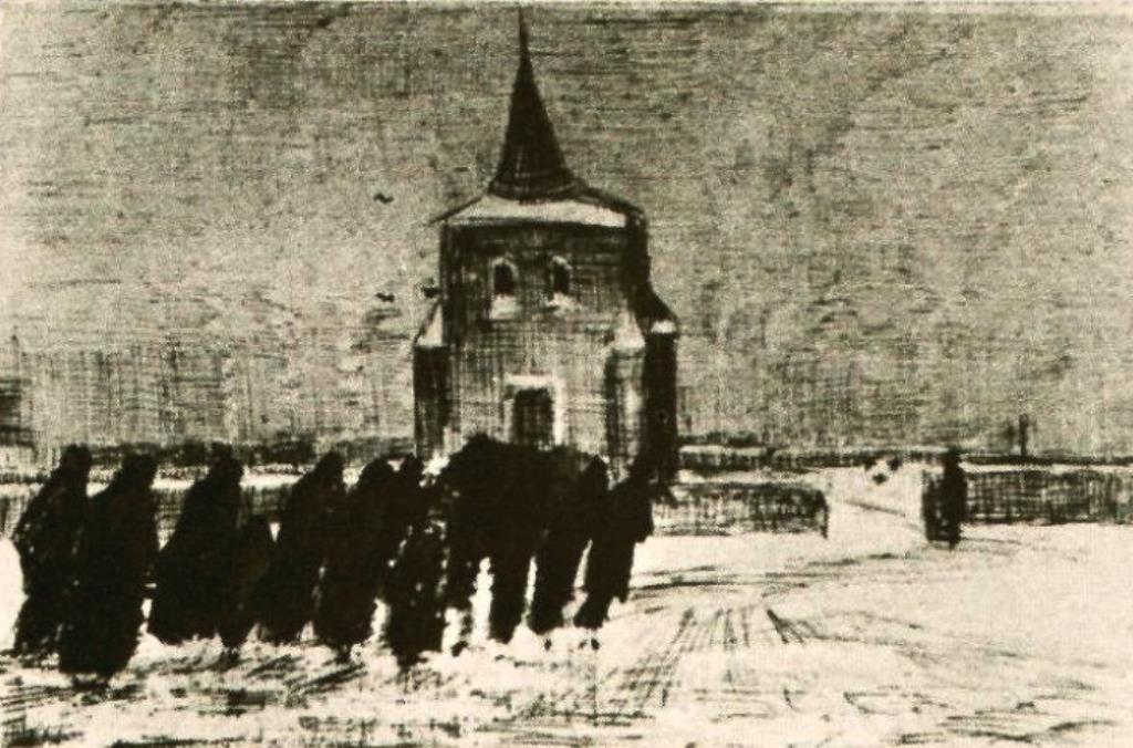 Vincent van Gogh. Funeral in the snow 1883