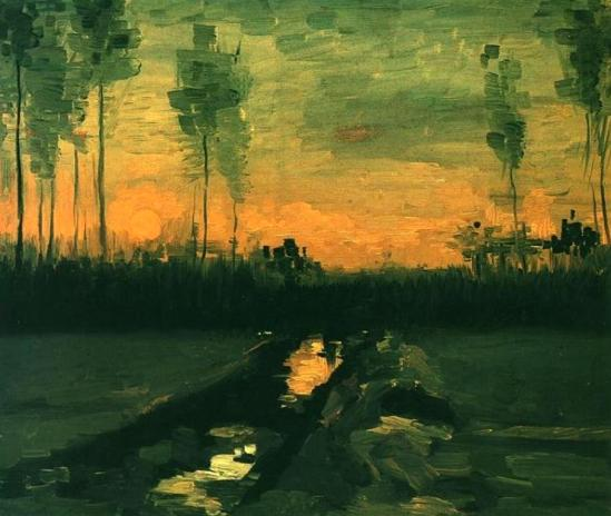 Vincent van Gogh. Landscape at Dusk 1885