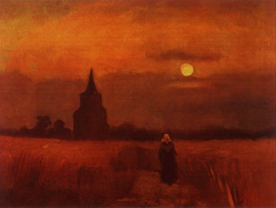 Vincent van Gogh. The Old tower in the fields 1884