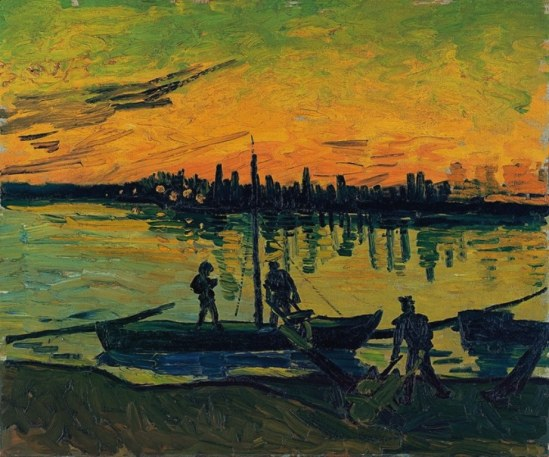 Vincent van Gogh.The stevedores in Arles 1888