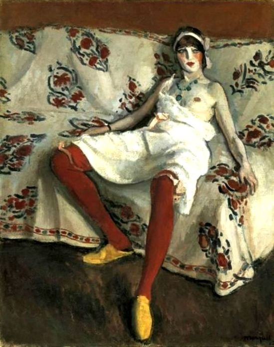 Albert Marquet. The red stockings 1912