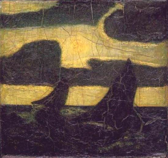 Albert Pinkham Ryder. Moonlight marine 1908