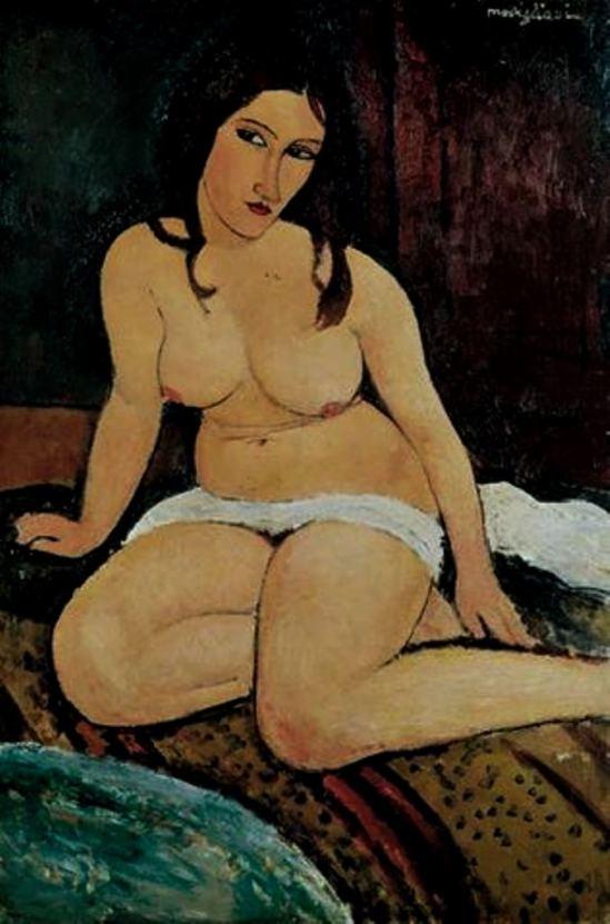 Amedeo Modigliani. Nu assis 1917