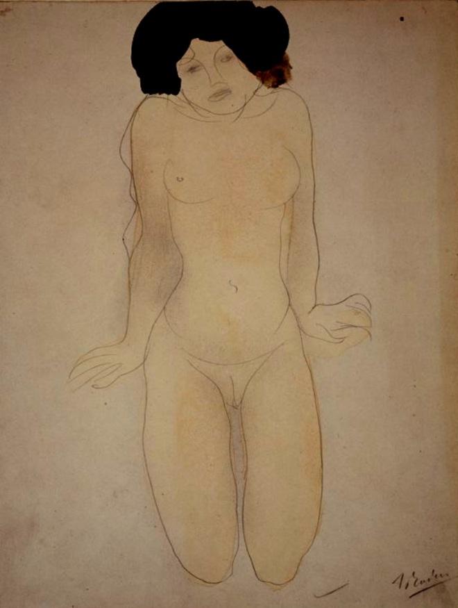 Auguste Rodin. Kneeling girl