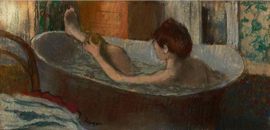 Edgar Degas. Femme dans son bain s'épongeant la jambe vers 1883