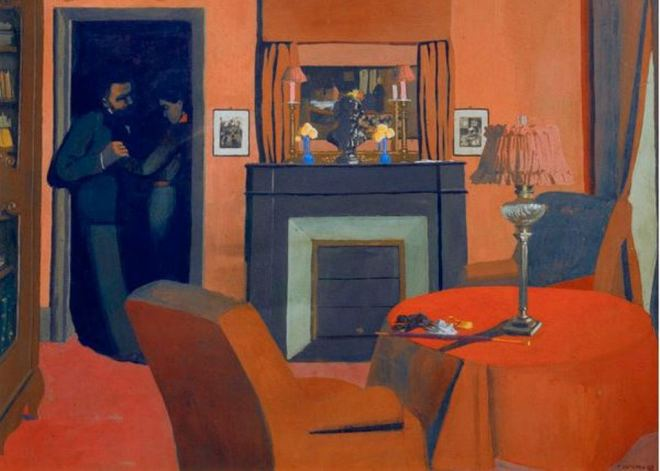 Félix Vallotton. La chambre rouge 1898