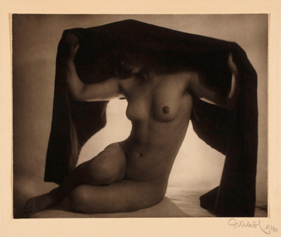 Frantisek Drtikol. Nude (with fabric) 1926. Via argo.net
