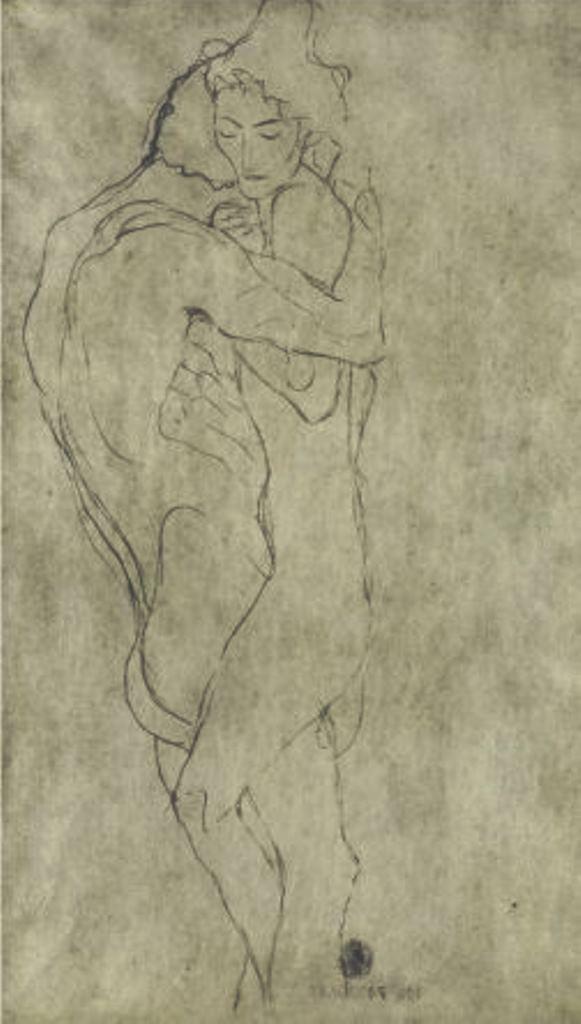 Gustav Klimt. Lovers 1908