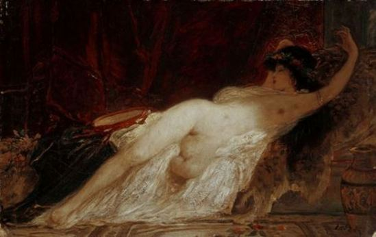 Karoly Lotz. Sleeping bacchante (1833 - 1904)