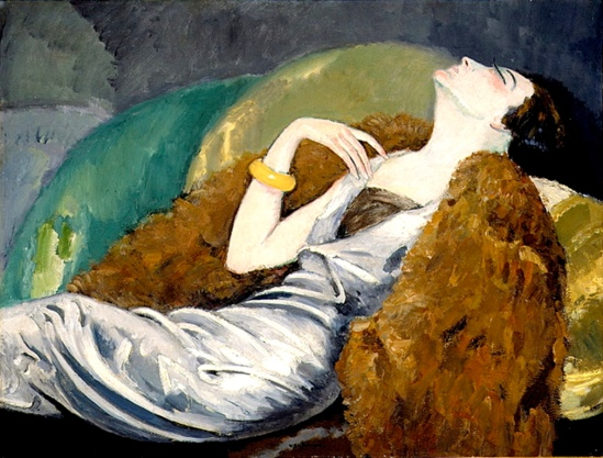 Kees van Dongen. Woman on sofa 1930