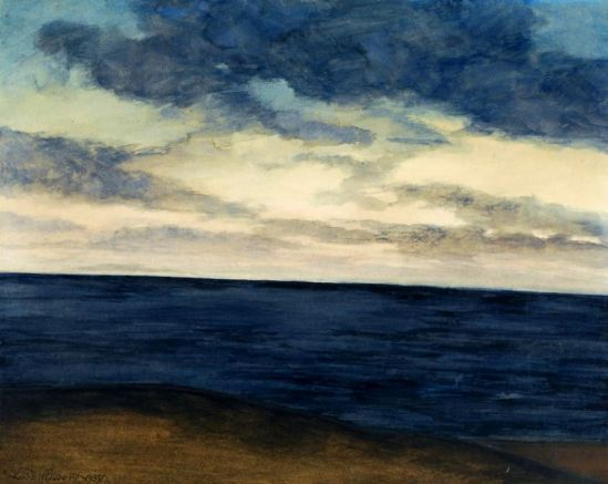 Léon Spilliaert. Plage et marine bleue 1937