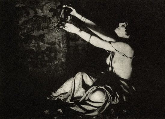 Lejaren à Hiller. The wine of Columbine 1915. Via photogravure