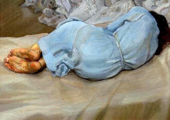 Lucian Freud. Annabel sleeping 1988