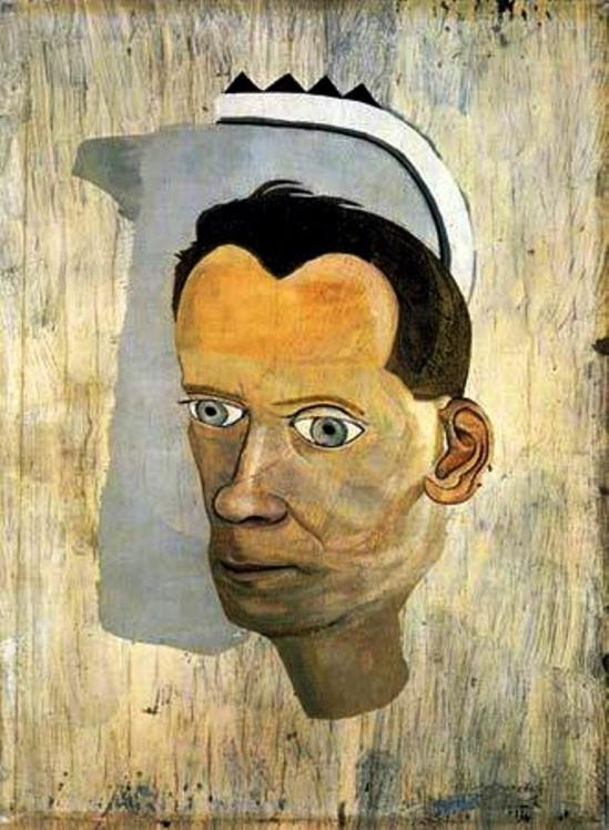 Lucian Freud. Fragment Head of Gerald Wilde 1943