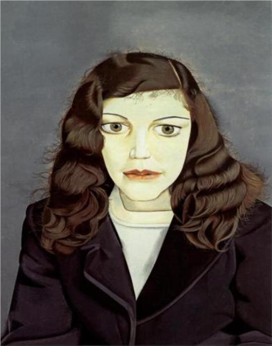 Lucian Freud. Girl In A Dark Jacket 1947