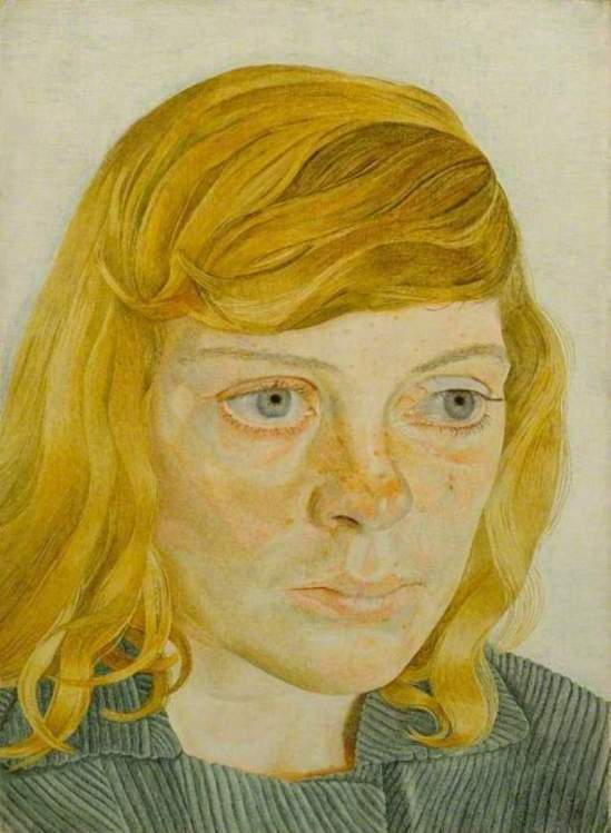 Lucian Freud. Girl in a green dress 1954