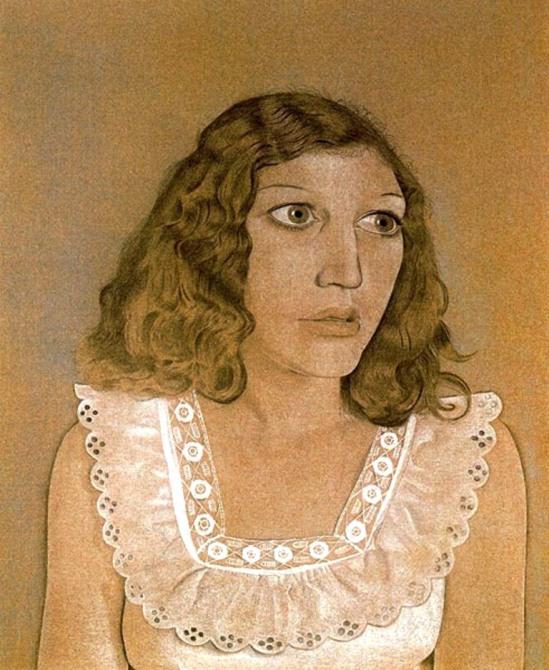 Lucian Freud. Girl in a white dress