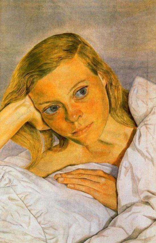 Lucian Freud. Girl in bed