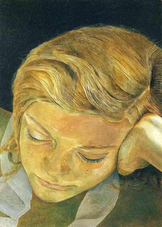 Lucian Freud. Girl reading 1952