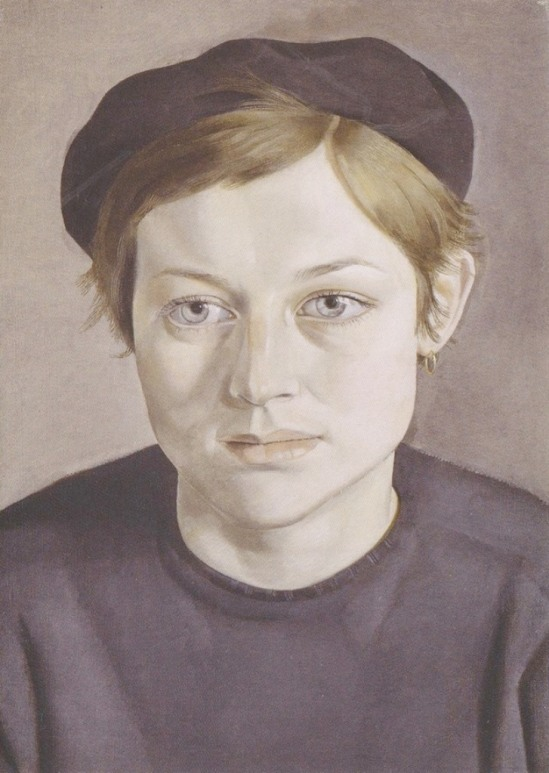 Lucian Freud. Girl with a beret 1952