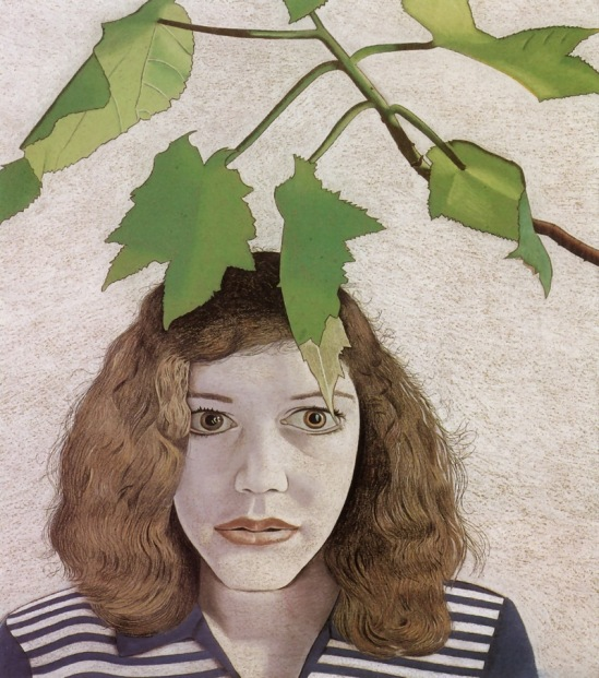 Lucian Freud. Girl with leaves 1948
