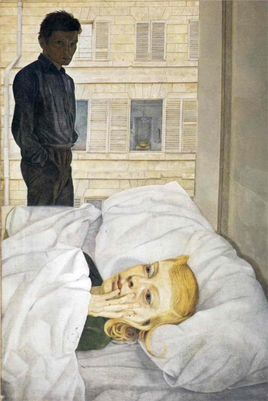 Lucian Freud. Hotel bedroom 1954