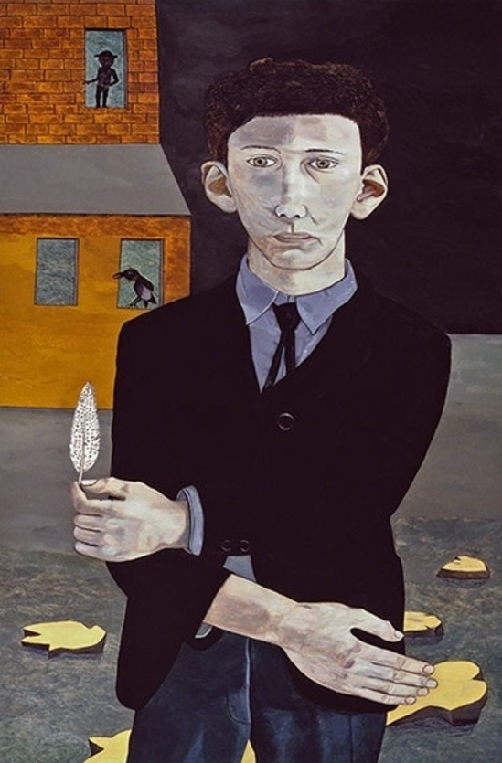 Lucian Freud. Man with a feather  1943