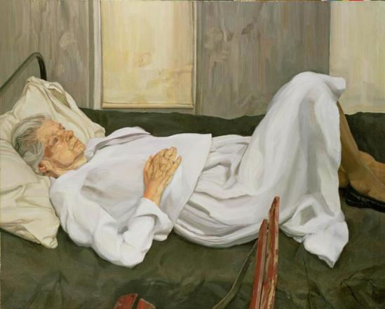 Lucian Freud. the Painter's mother resting 1984