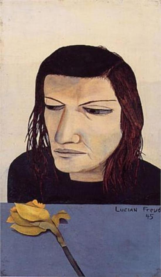 Lucian Freud. Woman With A Daffodil 1945