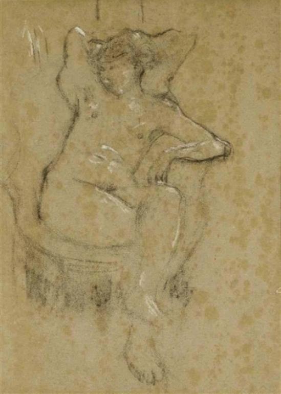 Pierre Bonnard. Jeune femme assise, torse nu
