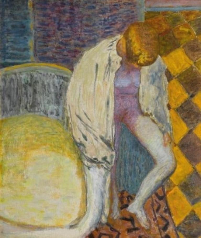 Pierre Bonnard. Femme sortant du bain 1925