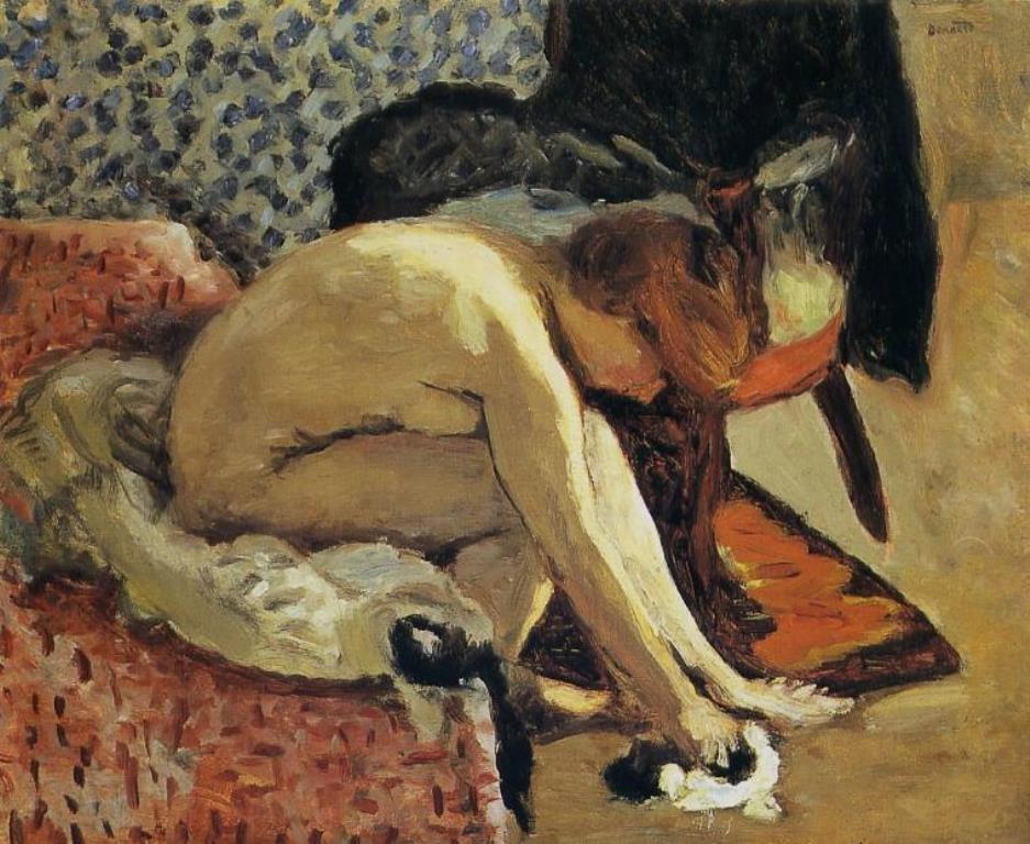 Pierre Bonnard. Jeune femme se chaussant 1910