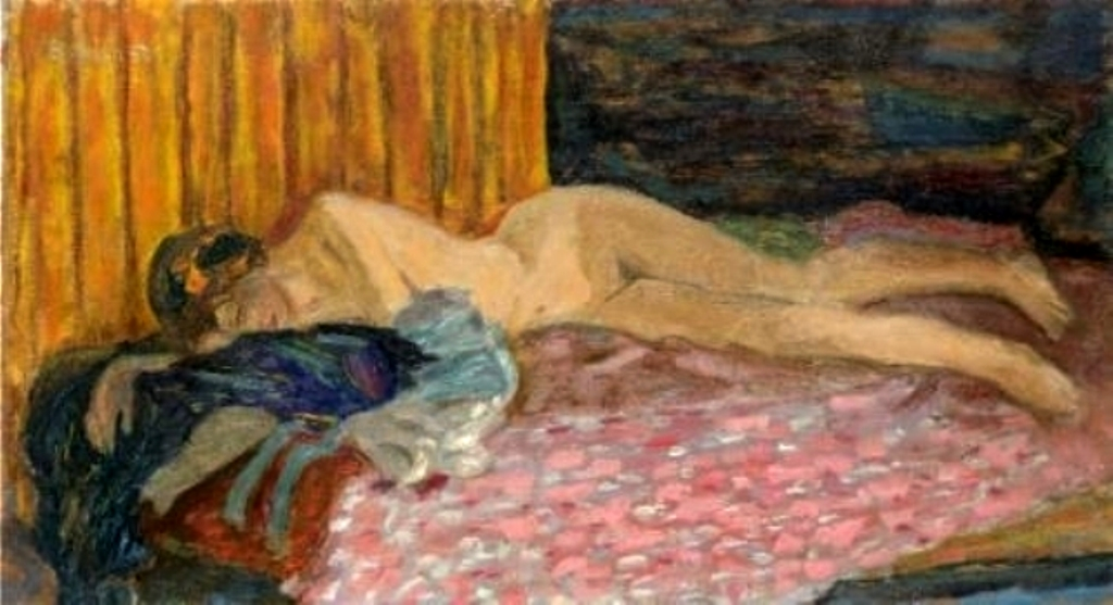 Pierre Bonnard .Le canapé rose 1910