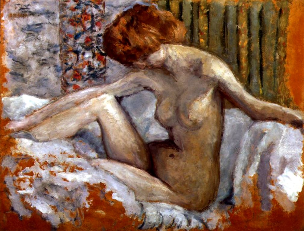 Pierre Bonnard. Marthe nue sur son lit 1903