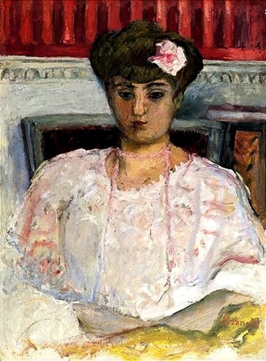 Pierre Bonnard. Misia au corsage rose