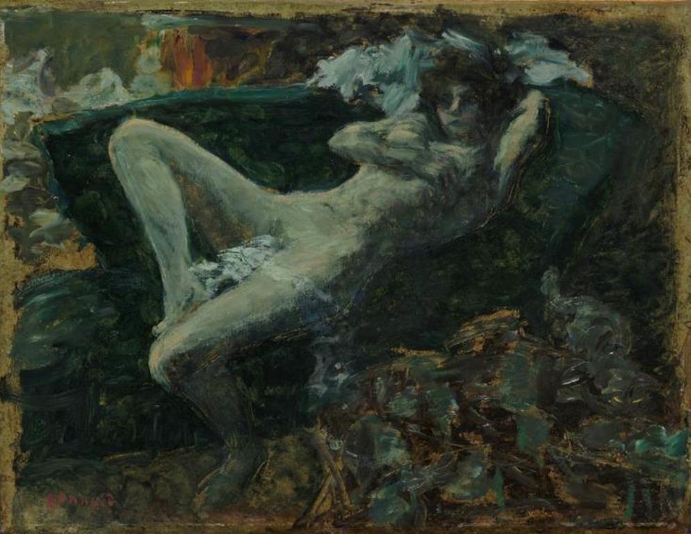 Pierre Bonnard. Nu bleu vers 1889- 1900
