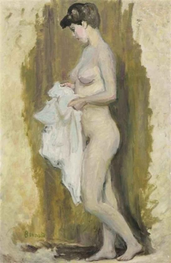 Pierre Bonnard. Nu debout à la serviette 1905