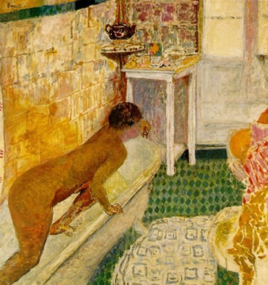 Pierre Bonnard. Out of the bath 1926