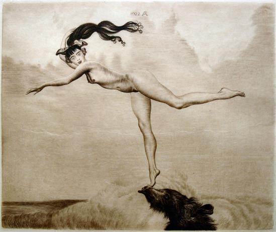 Richard Müller. Balancing nude