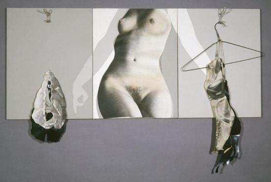 Robert Heinecken. Lingerie for a feminist suntan 1973. Via ccpemuseum