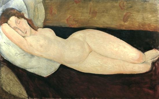 Amedeo Modigliani. Reclining nude 1919